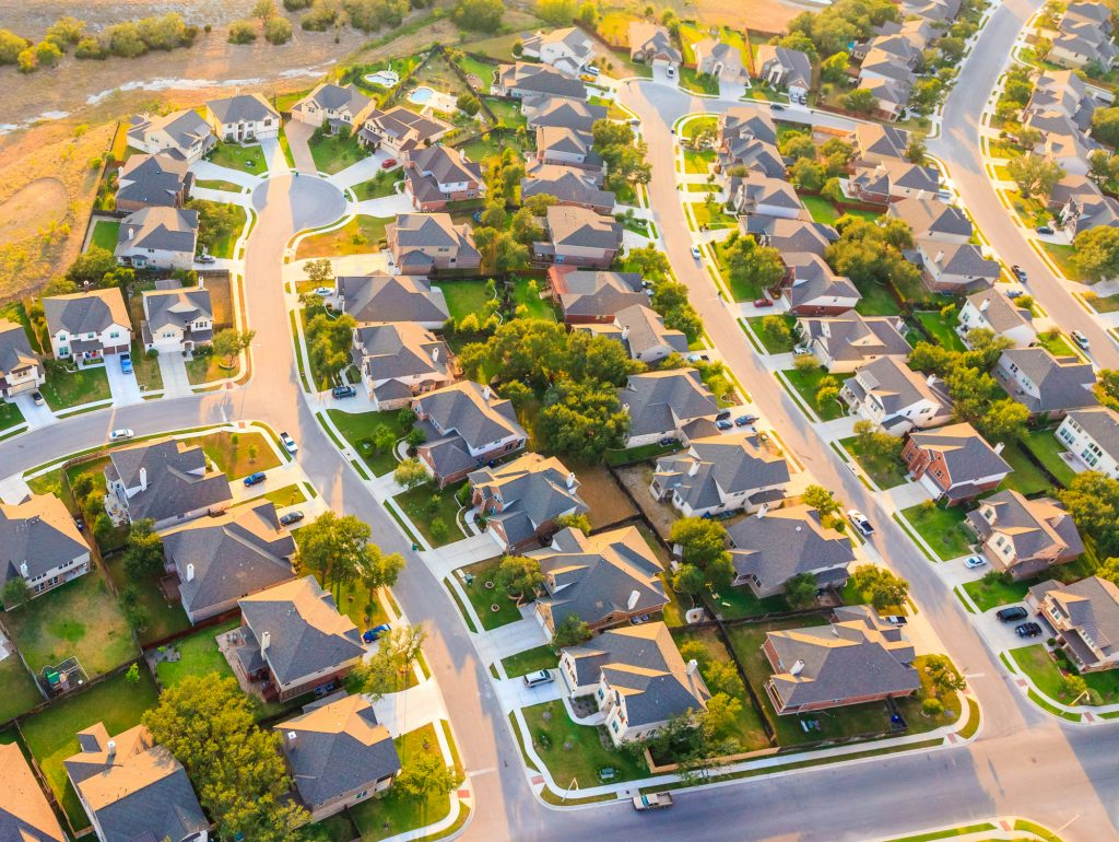 Arial View Of A Suburb