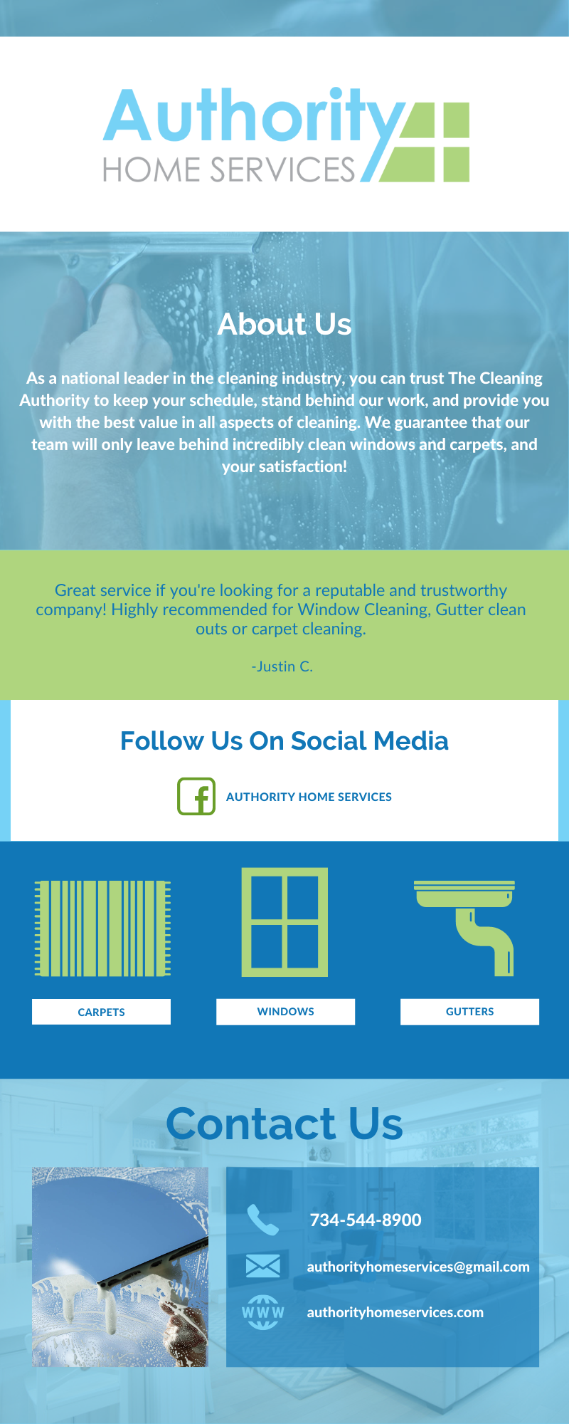Authority Home Services Infographic