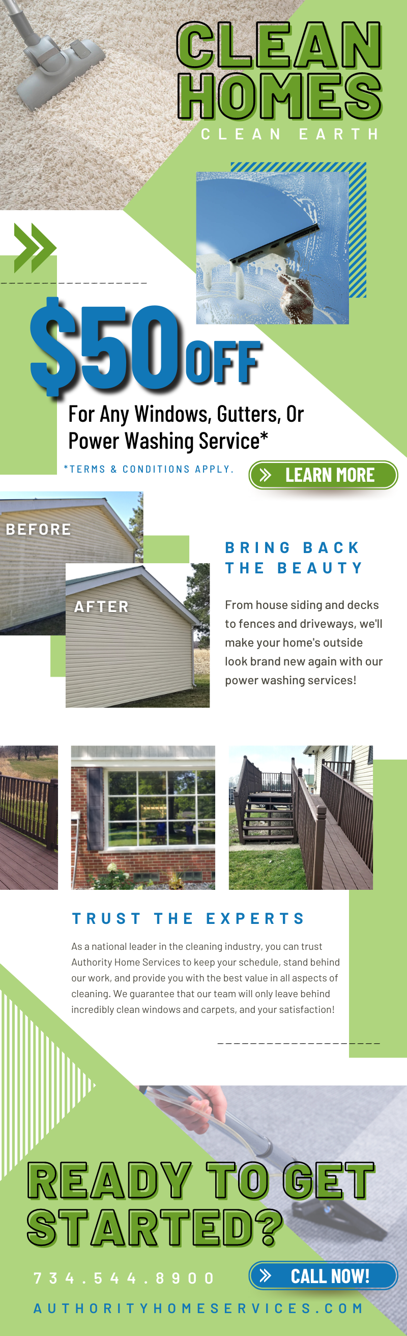 $50 Off Any Windows, Gutters, or Power Washing Service